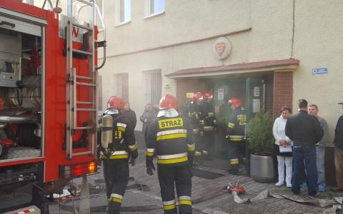 Pożar w szpitalu w Goleniowie.